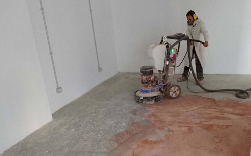 Prima fase levigatura cemento industriale